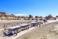 世界的鬼城在新疆的 免版税库存图片