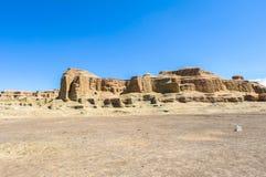 世界的鬼城在新疆的 免版税库存照片