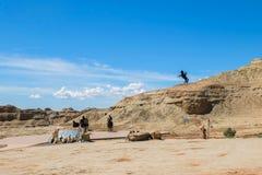 世界的鬼城在新疆的 免版税图库摄影