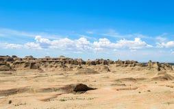 世界的鬼城在新疆的 库存照片