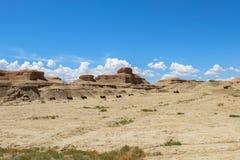 世界的鬼城在新疆的 图库摄影