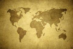 世界的Grunge映射 库存图片