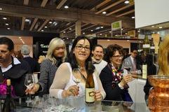 世界的Vinitaly最大的酒内部预映它 免版税库存照片