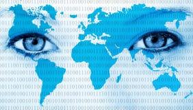 世界眼睛 免版税库存图片