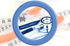 世界糖尿病天商标蓝色圈子  库存照片