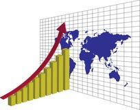 世界经济上升  向量例证