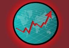 世界经济上涨 向量例证