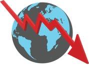 世界经济下来 向量例证