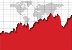 世界经济图 向量例证