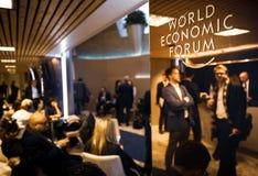 世界经济论坛年会在达沃斯,瑞士 库存照片