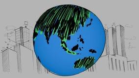 世界经济趋势的数字综合 库存例证