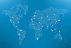 世界网络 库存图片