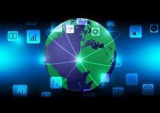 世界网络美国航空航天局装备的这个图象的网络和应用元素 库存图片