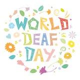 世界聋天 库存例证