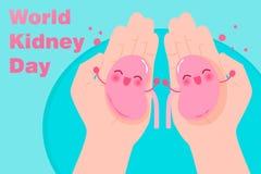 世界肾脏天概念 向量例证