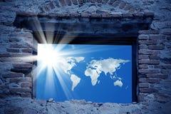 世界能量和窗口 免版税库存图片