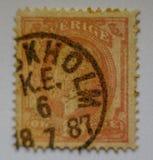 世界葡萄酒邮票斯德哥尔摩1887,美好的GRAFICS 免版税库存照片