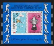 世界蟋蟀杯子1975邮票 免版税库存图片