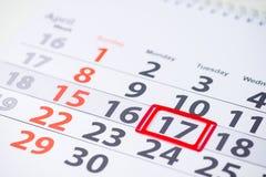世界血友病天 4月17日在日历的标记 库存图片