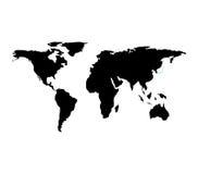 世界行星地球地图 皇族释放例证