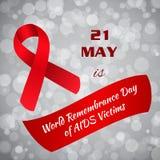 世界记忆天艾滋病受害者 库存图片