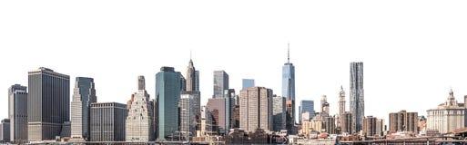 世界贸易中心和摩天大楼在更低的曼哈顿,纽约,被隔绝 免版税库存图片