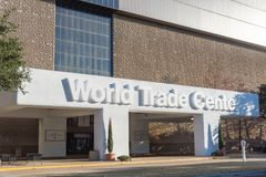 世界贸易中心达拉斯或市场中心 免版税图库摄影