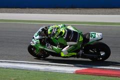 世界超级摩托车冠军 库存照片