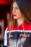 世界超级摩托车种族, Beautifull栅格女孩 库存照片
