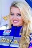 世界超级摩托车种族, Beautifull栅格女孩 库存图片
