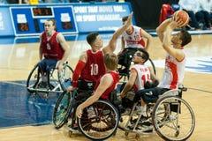 世界轮椅篮球冠军决赛 免版税图库摄影