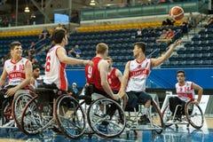 世界轮椅篮球冠军决赛 免版税库存图片