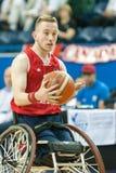 世界轮椅篮球冠军决赛 免版税库存照片