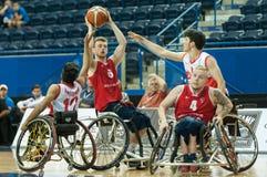 世界轮椅篮球冠军决赛 库存照片