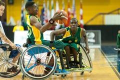 世界轮椅篮球冠军 免版税图库摄影