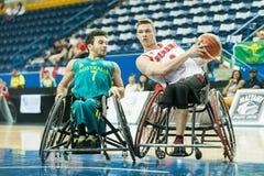 世界轮椅篮球冠军 图库摄影