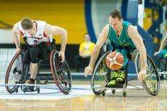 世界轮椅篮球冠军 免版税库存照片
