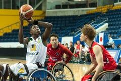 世界轮椅篮球冠军 库存照片