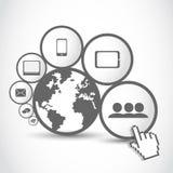 世界连接数技术 免版税库存照片
