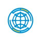 世界通信,互作用,集成抽象标志 免版税库存照片