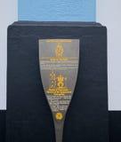 世界遗产名录标志, Angra,亚速尔群岛 免版税库存照片
