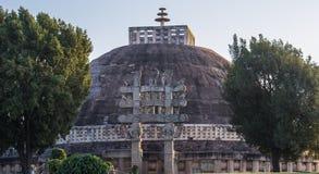 世界遗产名录站点桑吉印度 库存图片