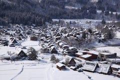 Shirakawago历史的村庄  库存图片