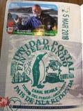 世界邮票的末端 库存照片