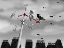 世界金融危机 免版税库存图片
