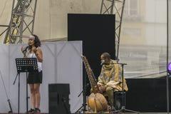 世界青年日,在集市广场的音乐会 免版税库存图片