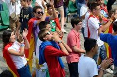 世界青年日2016年在切布尼察 库存图片