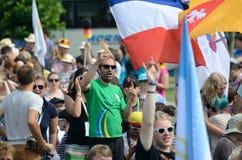 世界青年日2016年在切布尼察 免版税库存照片