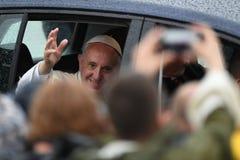 世界青年日2016年-弗朗西斯教皇 免版税库存照片
