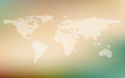 世界风格化地图  世界地图概念 库存图片